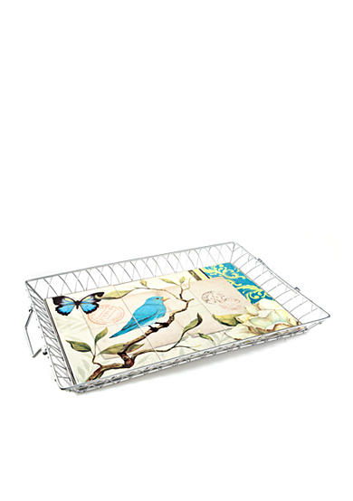 Home Accents® Blue Bird Large Serving Tray