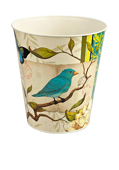 Home Accents® Blue Bird Waste Basket