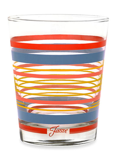 Fiesta® Striped Double Old-Fashioned Glass