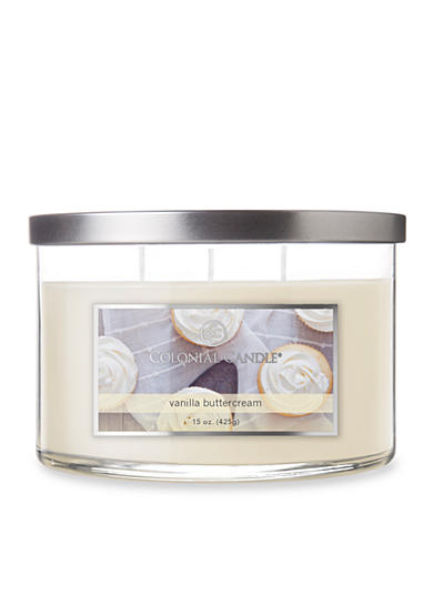 Colonial Candle® 15-oz. 3-Wick Vanilla Buttercream Candle