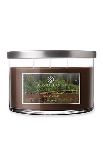 Colonial Candle® 15-oz. 3-Wick Tibetan Woods Candle