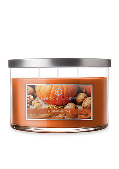 Colonial Candle® 15-oz. 3-Wick Pumpkin Nutmeg Candle