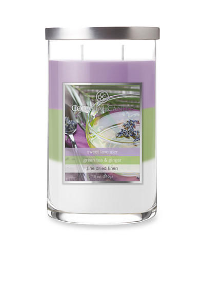 Colonial Candle® 18-oz. Trilayer Sweet Lavender, Green Tea, & Ginger Candle