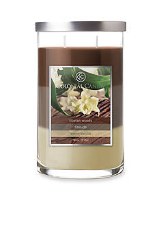 Colonial Candle 18-oz. Trilayer Tibetan Woods, Fireside, & Warm Vanilla Candle