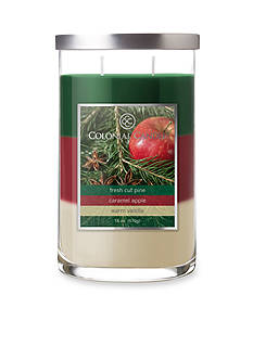 Colonial Candle 18-oz. Trilayer Fresh Cut Pine, Caramel Apple, & Warm Vanilla Candle