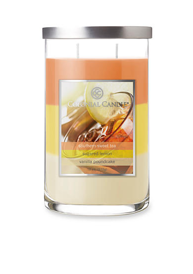 Colonial Candle® 18-oz. Trilayer Southern Sweet Tea, Sugared Lemon, & Vanilla Poundcake Candle