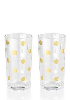 kate spade new york&reg; Gold Dots Acrylic Highball Glass Set<br>