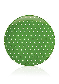 kate spade new york&reg; SALUT! Green Cream Dots Melamine Salad Plate<br>