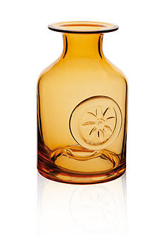 Dartington Crystal Amber Mini Flower Bottle