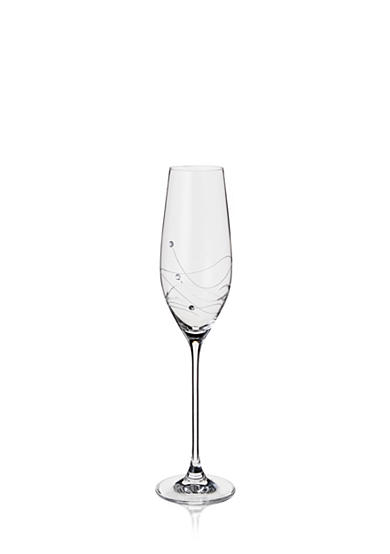 Dartington Crystal Glitz Champagne Flute Pair