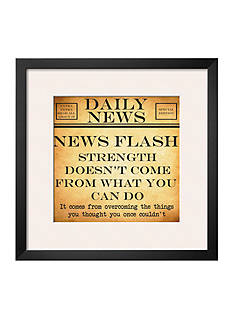 Art.com News Flash - Strength by Taylor Greene Framed Art Print