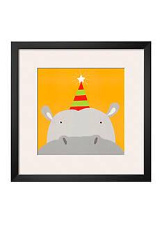 Art.com Peek-a-Boo VIII, Hippo, Framed Art Print