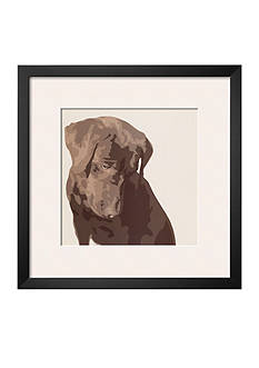 Art.com Chocolate Labrador, Framed Art Print - Online Only