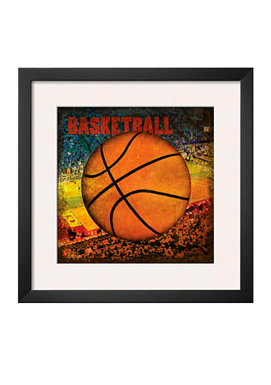Art.com Basketball Square II by Denise Tedeschi, Framed Art Print