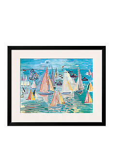 Art.com Regatta by Raoul Dufy, Framed Art Print