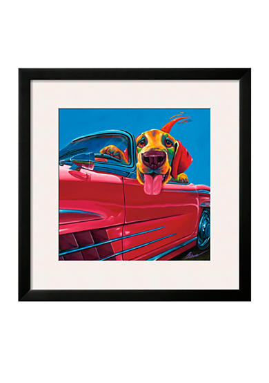 Art.com Dog About Town, Framed Art Print - Online Only