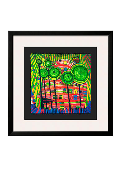 Art.com The Blob Grows in the Beloved Gardens, 1975, Framed Art Print