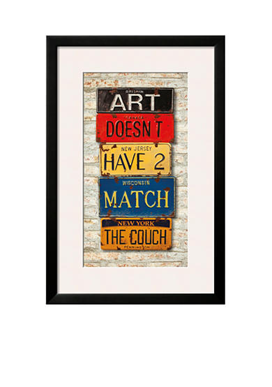 Art.com Couch, Framed Art Print, - Online Only