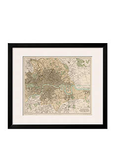 Art.com Map of London and Its Suburbs, Framed Giclee Print, - Online Only
