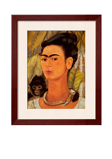 Art.com Self-Portrait with Monkey, 1938, Framed Art Print - Online Only<br>