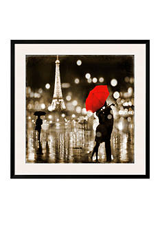 Art.com A Paris Kiss by Kate Carrigan, Framed Art Print
