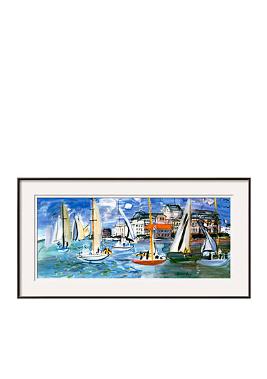 Art.com Regates Dans le Port de Trouville by Raoul Dufy, Framed Art Print