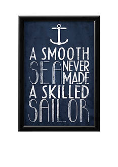 Art.com A Smooth Sea Never Made A Skilled Sailor, Framed Poster