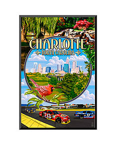 Art.com Charlotte, North Carolina - Montage Scenes by Lantern Press, Mounted Print