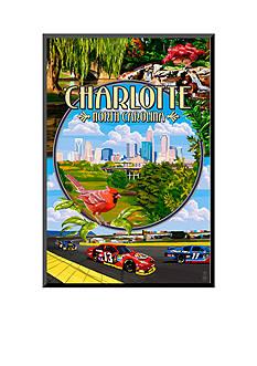 Art.com Charlotte, North Carolina - Montage Scenes by Lantern Press, Mounted Print