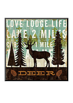 Art.com Simple Living Deer by Michael Mullan, Mounted Print Wood