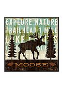Art.com Simple Living Moose by Michael Mullan,