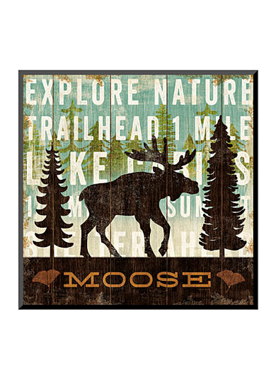 Art.com Simple Living Moose by Michael Mullan, Mounted Print