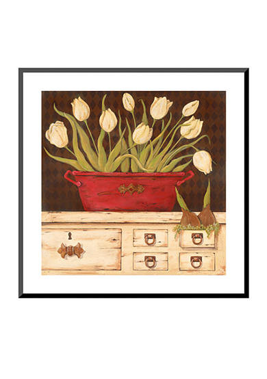 Art.com The White Cupboard by Jo Moulton, Mounted Print