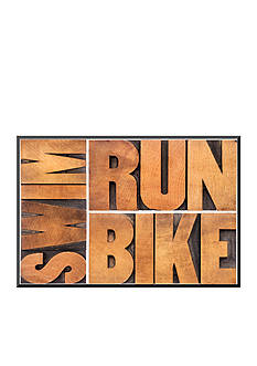 Art.com Run, Bike, Swim, Mounted Print