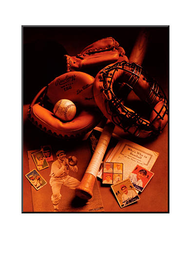 Art.com Baseball by Michael Harrison, Mounted Print