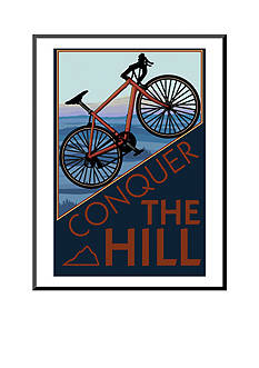 Art.com Conquer the Hill - Mountain Bike Mounted Print Wood