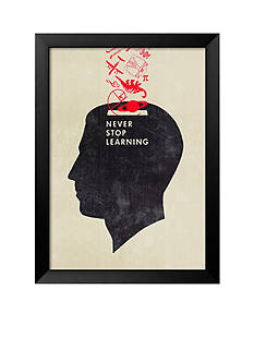 Art.com Never Stop Learning by Hannes Beer, Framed Art Print