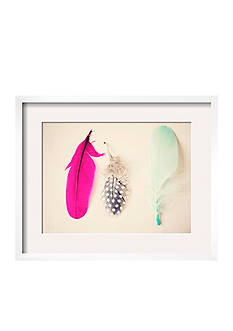 Art.com Magenta Feathers by Ashley Davis, Framed Art Print
