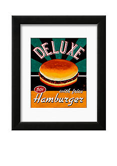 Art.com Deluxe Hamburger, Framed Art Print