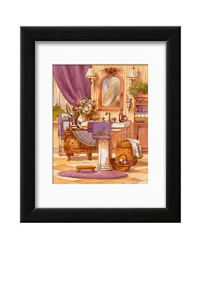 Art.com Victorian Bathroom II, Framed Art Print