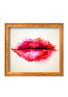 Art.com Beautiful Woman's Lips Formed By Abstract Blots, Framed Art Print