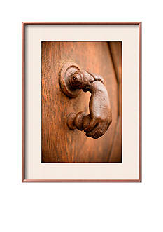 Art.com French Door Knocker I by Erin Berzel, Framed Photographic Print