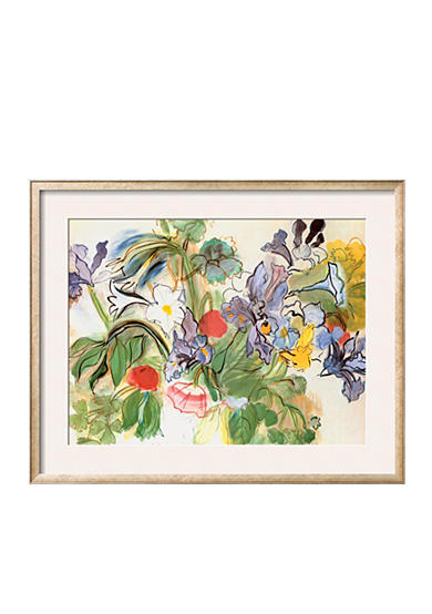 Art.com Poppies and Iris by Raoul Dufy, Framed Art Print