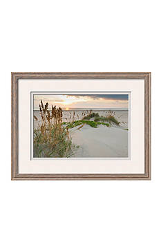 Art.com Sea Oats on Gulf of Mexico at South Padre Island, Texas, USA by Larry Ditto, Framed Photographic Print