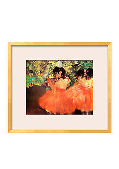 Art.com Ballerina in Red by Edgar Degas, Framed Art Print