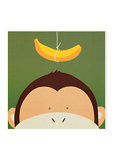 Art.com Peek-a-Boo X, Monkey Stretched Canvas Online Only