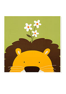 Art.com Peek-a-Boo IX. Lion Stretched Canvas Online Only