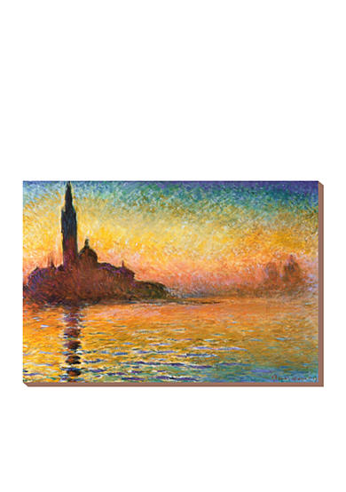 Art.com Sunset in Venice Stretched Canvas Print  Online Only