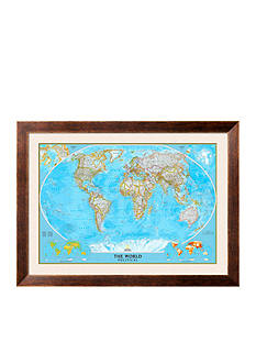 Art.com World Political Map, Framed Art Print, - Online Only
