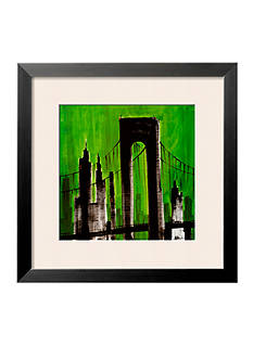 Art.com Green Cityscape, Framed Art Print